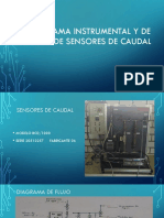 Diagrama instrumental sensores de caudal