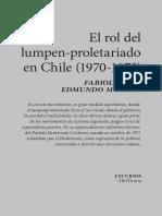 El rol del lumpen-proletariado en Chile