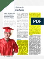 Conselhos Profissionais Barram Diplomas Falsos