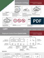 Capprondo Refrigerated Centrifuge Quick Guide
