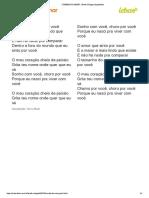 CUMBIA DO AMOR - Banda Calypso (Impressão)