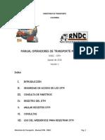 Manual Manual Operadores de Transporte Multimodal (Otm)