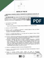 Edital da reunião de Assembleia Municipal de Sintra