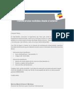 Instrucciones recibir giros Bancolombia