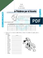 PALABRAS POR EL ACENTO
