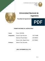 Informe de Laboratorio 1 - Fisica I