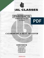 Calorimetry & Heat Transfer