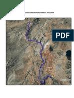 Imagen Satelital de Las 6 Lineas de Conduccion Del Rio Pachacayo Hacia El Canal Cemirm