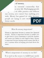 JULY 10, 2019 - IMPORTANCE OF MONEY.pptx