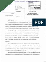 Epstein Denial of Bail - Court Order