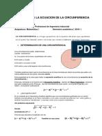 6ºSemama Ecuacion de La Circunferencia