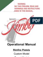 Kimber Rimfire Manual