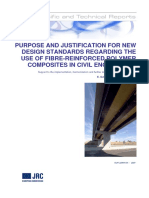 PURPOSE AND JUSTIFICATION FOR NEW DESIGN STANDARDS REGARDING THE USE OF FIBRE-REINFORCED POLYMER COMPOSITES IN CIVIL ENGINEERING