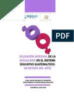 Educación Integral de La Sexualidad en El Sistema Educativo Guatemalteco