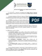 Instructivo y Protocolo Para La Presentación Del Proyecto de Trabajo Final de Maestría VALERIA ERREDONDO