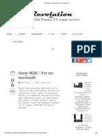 Revolution_ Sony MHC-V11 No Enciende
