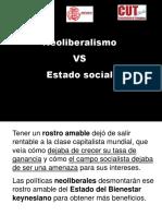 Neolibealismo versus Estado de Bienestar