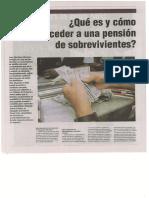 Qué Es y Cómo Acceder a Una Pensión de Sobrevivientes -Autor José María Pacori Cari