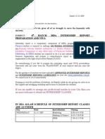 Internship Report Letter