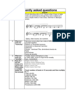 Faq by students for music