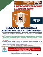 Boletín La Palabra Clasista N° 29-SUTEP Hco