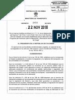 Decreto 2156 de 2018 Lci