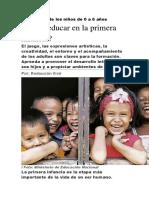 Un derecho de los niños de 0 a 6 años