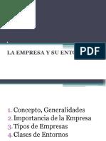 La Empresa y Su Entorno