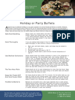 Holiday or Party Buffets