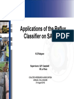 Applications of the Reflux Classifier on SA Coals