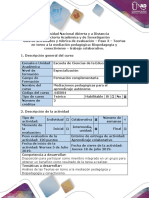 Guìa de Actividades y Rúbrica de Evaluación - Paso 3-Teorías en Torno a La Mediación Pedagógica Biopedagogía y Conectivismo