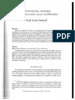 Monografias Memoria Y La Produccion Local De La Historia