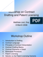 Workshop on Contract Drafting and Patent Licensing.ppt