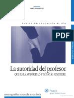 La Autoridad Del Profesor