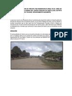 Informe de Evaluacion de Riesgos Por Inundacion Pluvial en El Area de Influencia Del Casco Urbano Del Centro Poblado de Santa Lucia