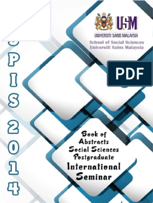 social sciences postgraduate international seminar trust