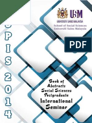 Social Sciences Postgraduate International Seminar 2014 Trust Emotion Reputation