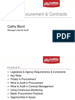 Auditing Procurement and Contracts