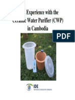 water Purifier Experiment