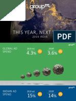 GroupM Adspend India 2019