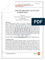 Survey Paper on Security in Cloud Computing