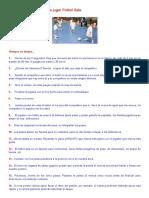 25 Consejos Para Jugar Fútbol Sala _ Rayo Lorea II - Juveniles