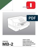 Manuale Uso Mb-2 9501