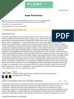 Blue Light Receptors and Signal Transduction