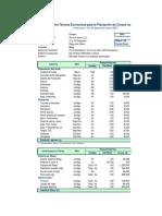 Ficha técnica de costos de establecimiento de un huerto de cerezas.