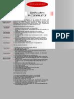 Test Procedures_br_ WATER BALANCE