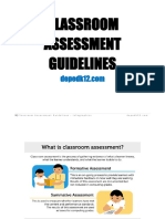 Classroom Assessment Guidelines