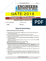 GATE 2019 Pre GATE Offline Paper 1 Chemical Engineering