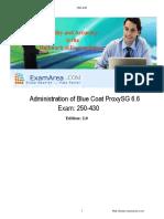 Bluecoat Proxy SG Dumps 250-430 Q&A-ExamArea