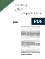 Burgmer. Heisenberg , Platon y politica
